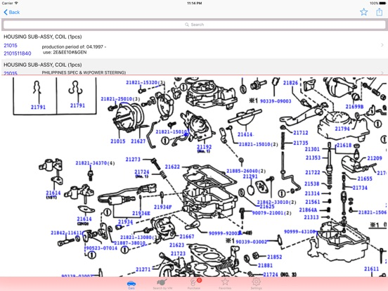 toyota parts diagram  u0026 vin on the app store