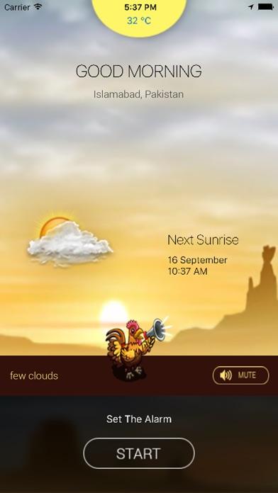 Rooster Sunrise AlarmScreenshot of 2
