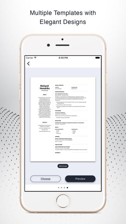 Instant Resume CV Resume Builder Free by Yasiel Segui – Instant Resume Builder