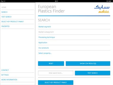SABIC's Polyolefin Plastics Finder iOS Application Version