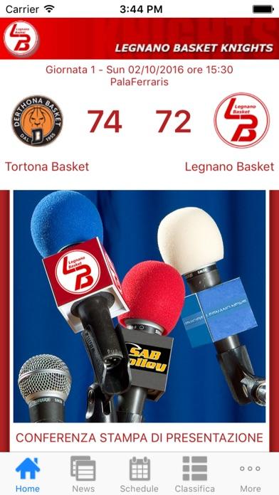 Screenshot of Legnano Basket Knights App2