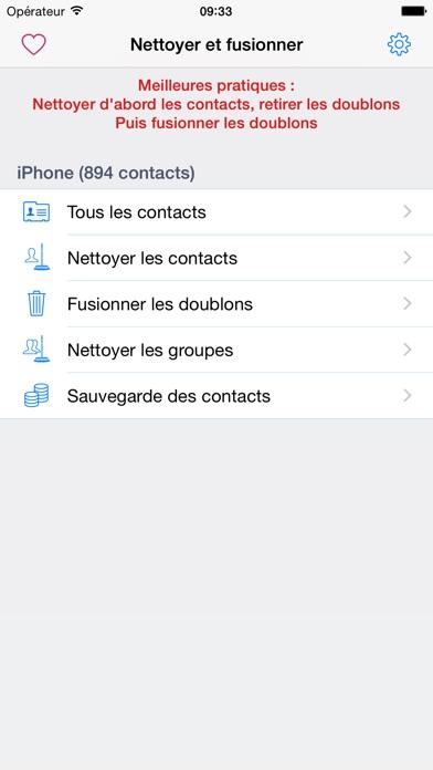 Nettoyage et suppression des doublons contactsCapture d'écran de 1