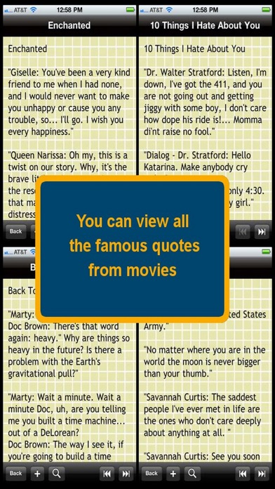 Referencing movie quotes