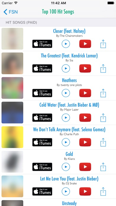 Screenshot #4 for Free Song Notifier for iTunes Downloads & Top Hits