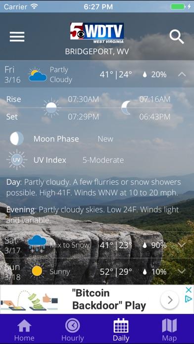 WDTV 5 First Alert WeatherScreenshot of 4