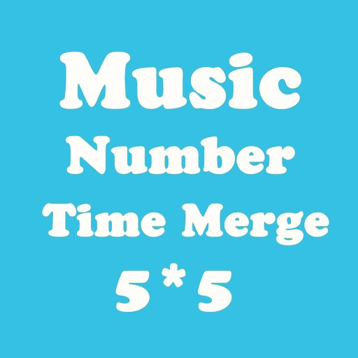 Number Merge 5X5 - Playing With Piano Music And Merging Number Block iOS App