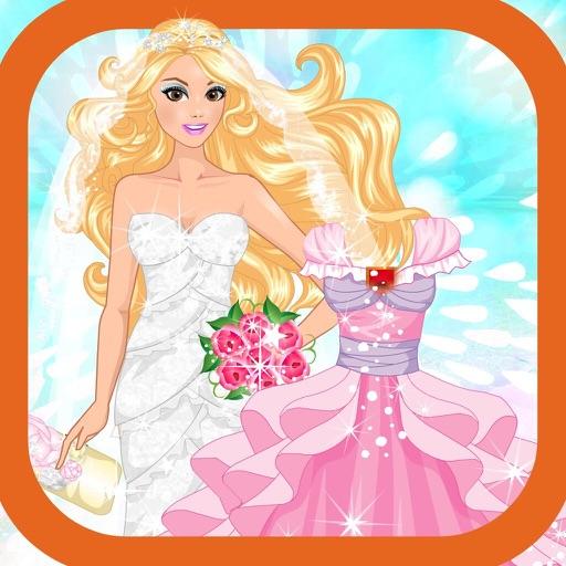 Baby wear a wedding dress:Girl makeup games iOS App