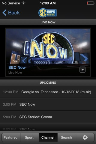 WatchESPN screenshot 2