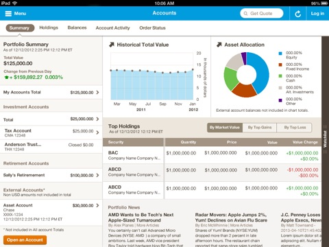 Merrill Edge for iPad screenshot 1