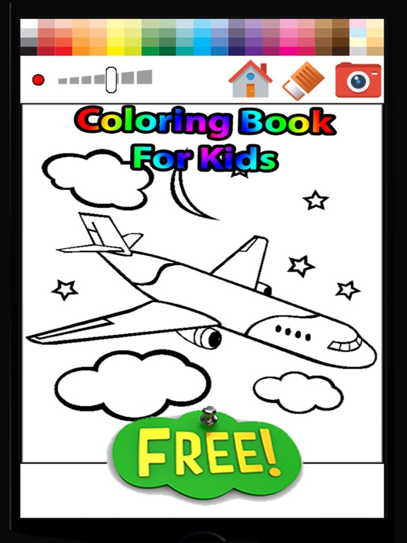 Airplane Coloring Book For Kids Free On The App Store