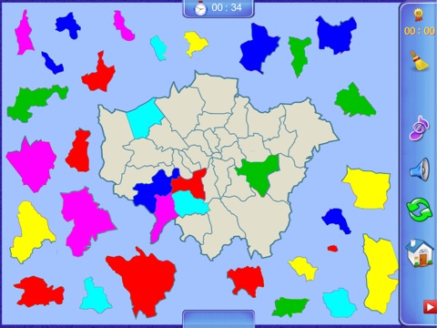 Greater London Puzzle Map screenshot 1