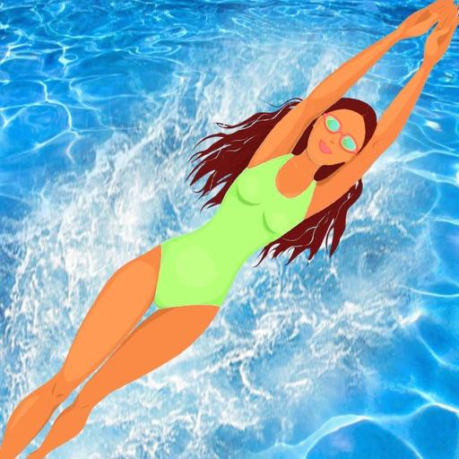 American Gymnastic Girl Swim-ming : Back-flip Elite swinging Competition pro iOS App