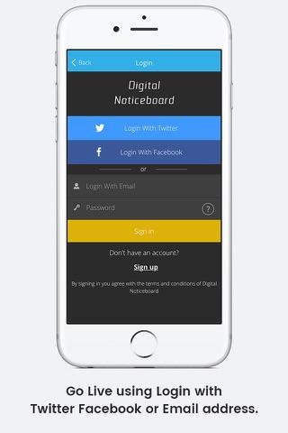 Digital Noticeboard screenshot 1