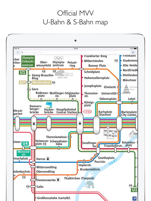 Munich Metro MVG Map And Route Planner On The App Store - Bus map munich