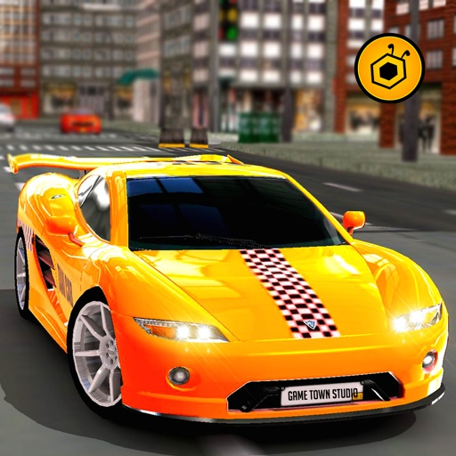 Real Crazy taxi driver 3D simulator free 2016: Drive sports cab in modern city iOS App