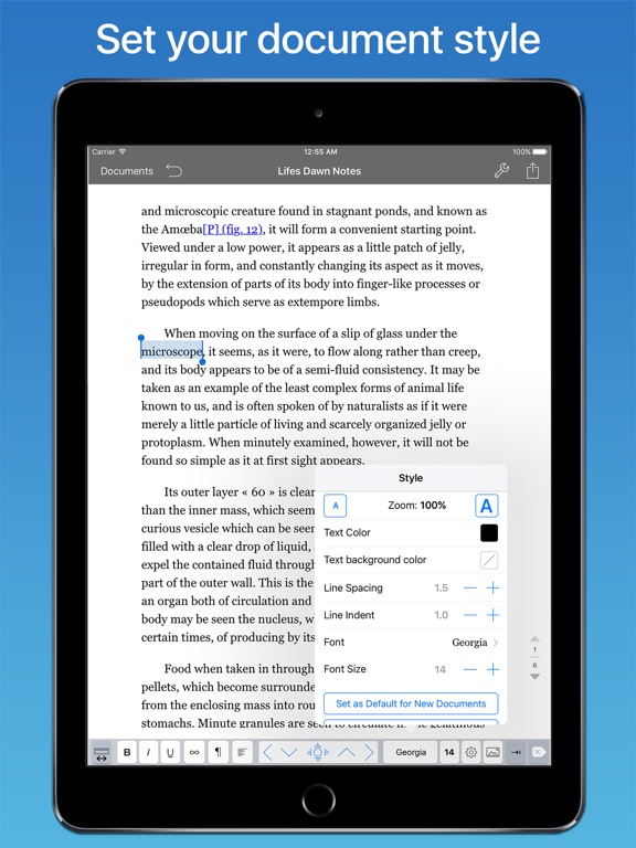 TextEdit+: Text Editor for iPad Screenshots
