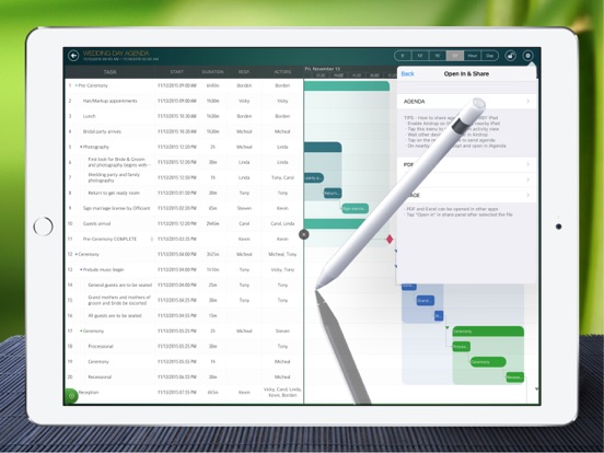 iAgenda - Schedule agenda on Gantt chart Screenshot