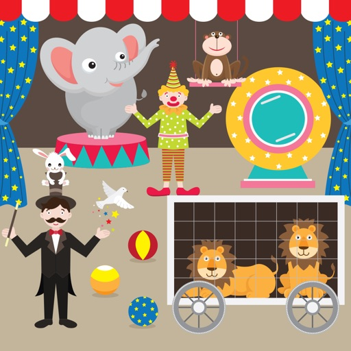 Circus Games - 10 funny circus themed games for Preschool and Kindergarten kids iOS App