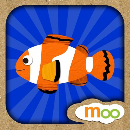 海洋生物 - 儿童拼图游戏, 益智活动, 图画 (英语, 国语)