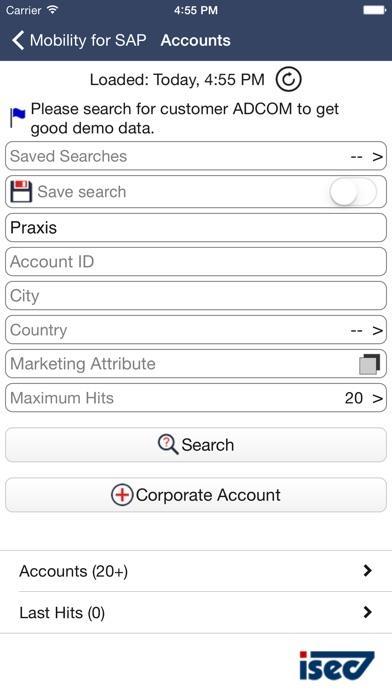 Screenshot von ISEC7 Mobility for SAP2