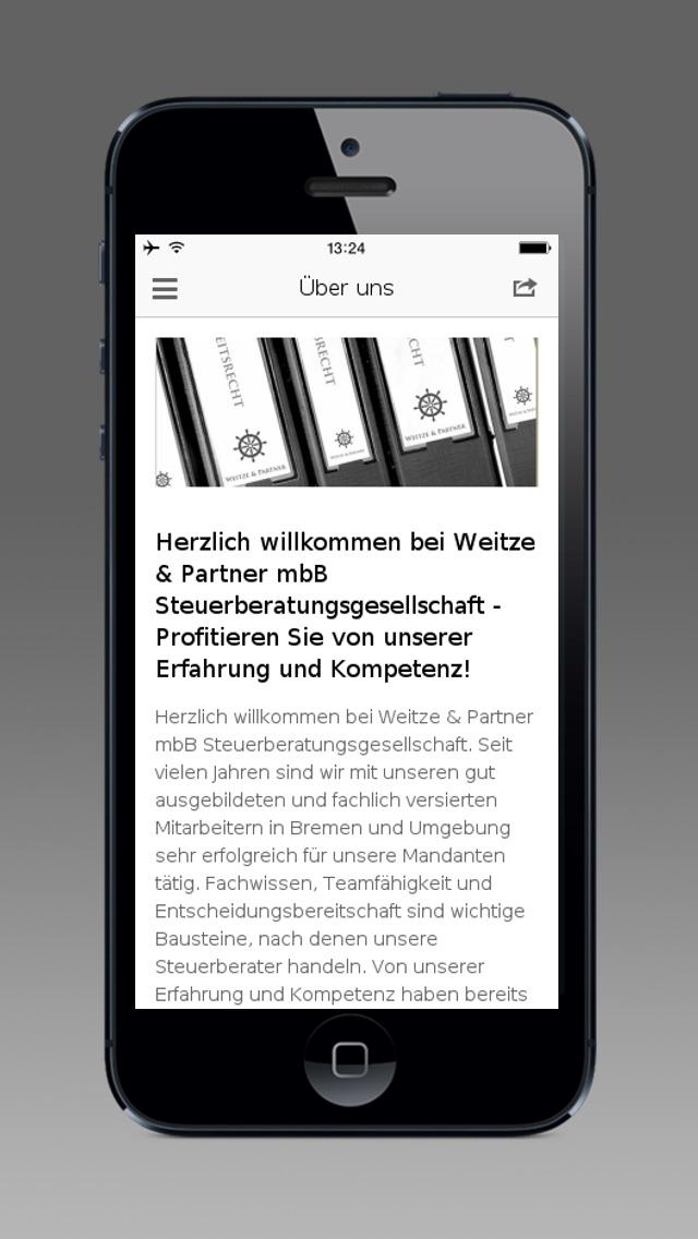 Screenshot von Weitze & Partner mbB2