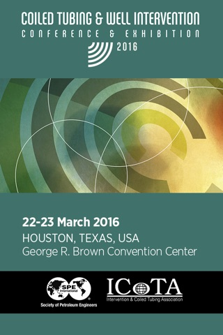 SPE/ICoTA Coiled Tubing & Well Intervention Conference & Exhibition 2016 screenshot 1