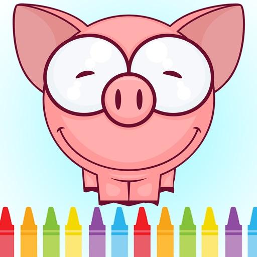 Preschool Coloring Game for Piggy Edition iOS App