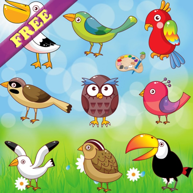 Coloring Book For Toddlers Birds FREE Pages And Pictures On The App Store