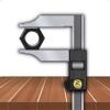 Fractional Caliper- calibre cm y fracción de pulgada , herramienta de medida