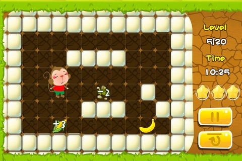 Monkey find the way to bananas (Happy Box) free puzzle games screenshot 3