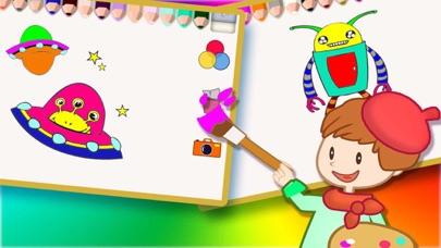 Screenshot of Libri da colorare per i bambini - Paint & Doodle per rendere il Spaceship e Robot colorato3
