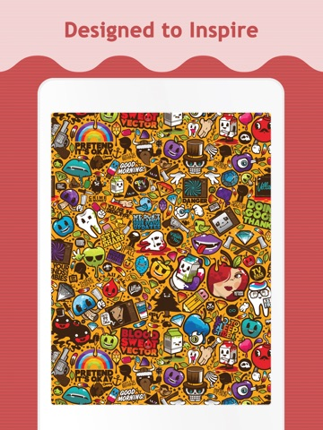 Doodle Wallpapers & Backgrounds for iPad screenshot 2
