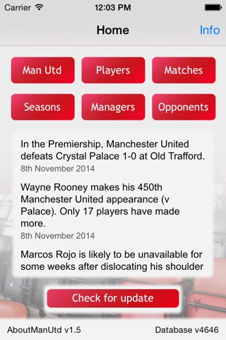About Man Utd: facts & stats for Manchester United screenshot 1