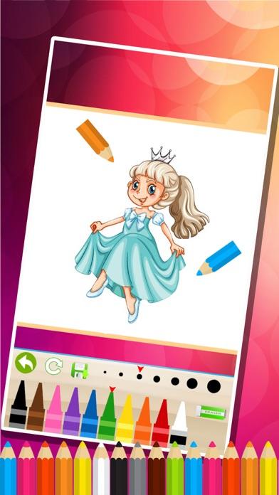princesse des pages à colorier - Jeux de peinture pour les enfantsCapture d'écran de 4