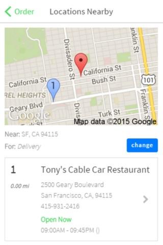 Tony's Cable Car Restaurant screenshot 2