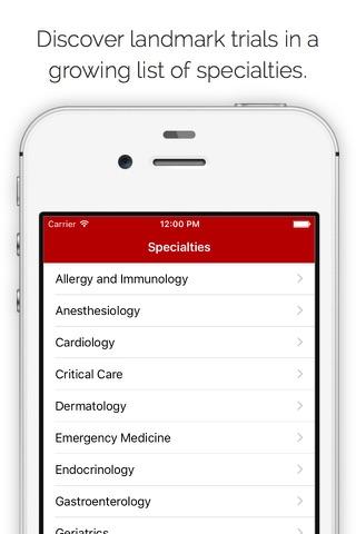 Journal Club: Landmark medical trials at your fingertips screenshot 3