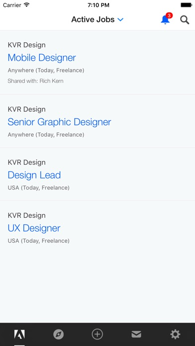 Screenshot of Adobe Talent3