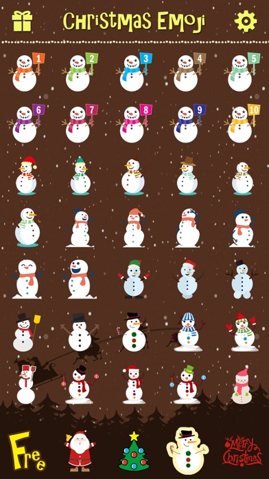 Merry Christmas Emoji Pro review screenshots