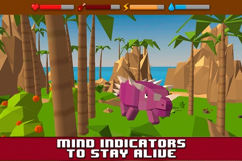 Dino Island Survival Simulator 3D Full screenshot 4