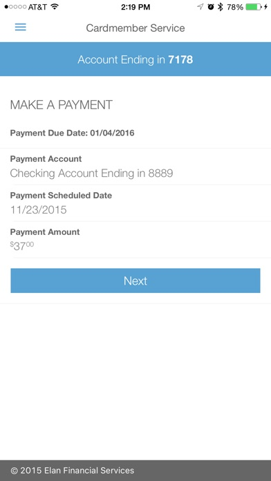 Elan Credit Card on the App Store