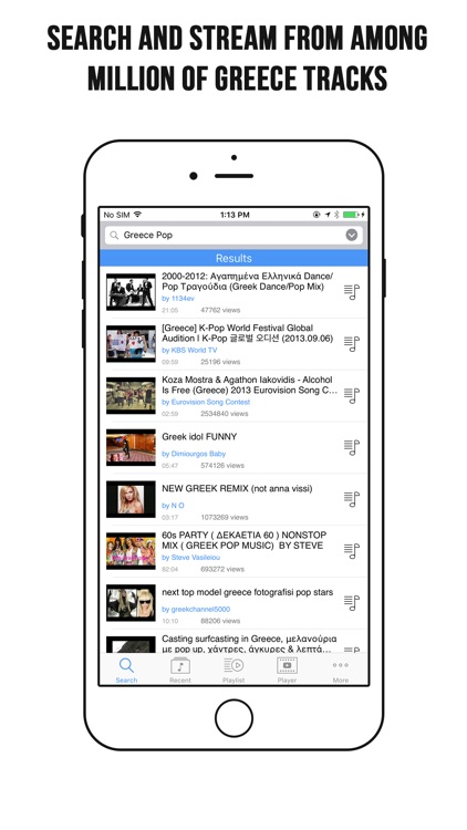 Greece Music App – Greece Music Player for YouTube by Saurabh Manocha