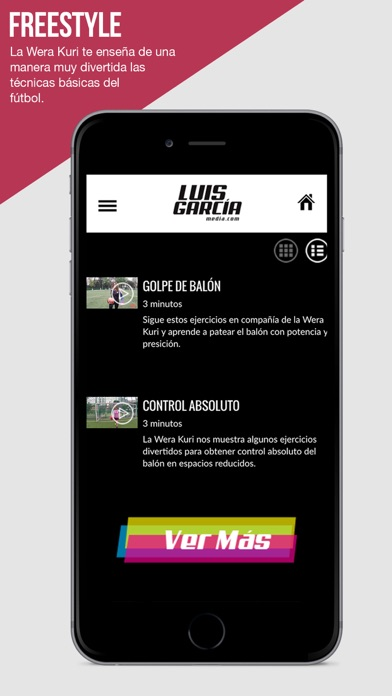 Luis García Media Screenshot on iOS