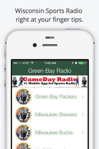 Green Bay GameDay Live Radio – Packers & Bucks Edition screenshot 1