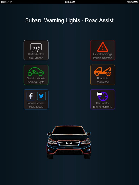 App For Subaru Warning Lights Problems On The App Store