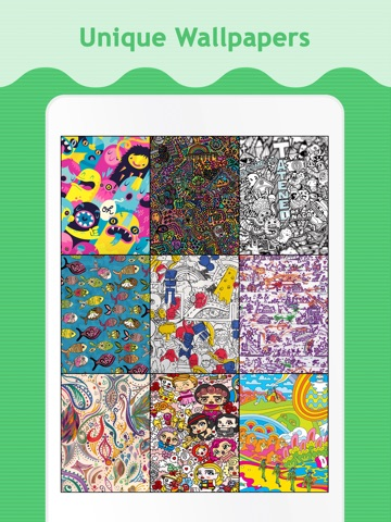 Doodle Wallpapers & Backgrounds for iPad screenshot 1