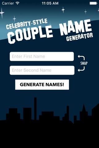 Counagen - Celebrity-Style Couple Name Generator screenshot 1