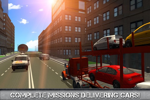 Car Transporter Driving Simulator 3D screenshot 3