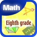 Eighth grade math icon