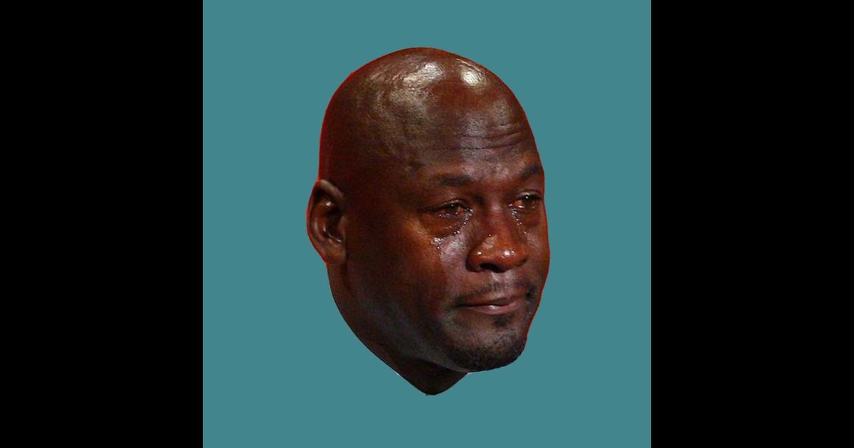 Sad black man crying