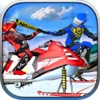 Snow Mobile Illegal Knock Down Racing